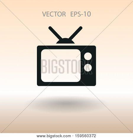 Flat icon of tv. vector illustration