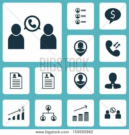 Set Of Human Resources Icons On Female Application, Pin Employee And Coins Growth Topics. Editable Vector Illustration. Includes User, Applicants, Conference And More Vector Icons.