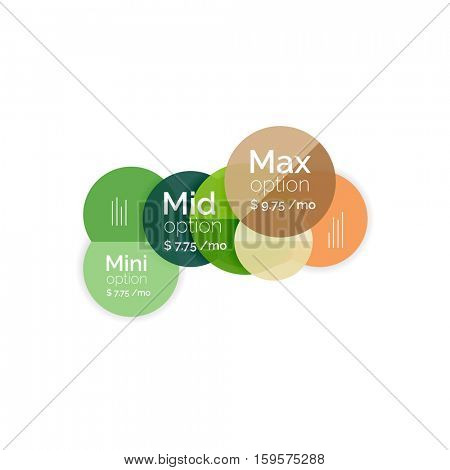 Business circle infographic banner template. Geometric template. Brochure - flyer, presentation or web design background