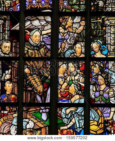 Stained Glass In Amsterdam - Willem Van Oranje