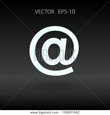 Flat icon of email. vector illustration