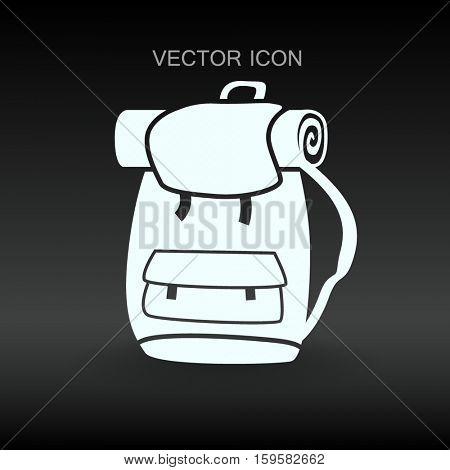 Backpack vector illustration