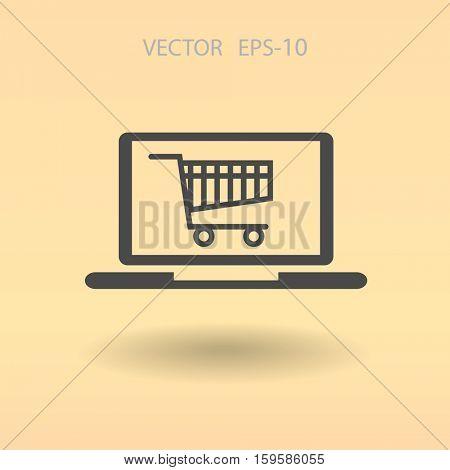 Online shopping icon. vector illustration