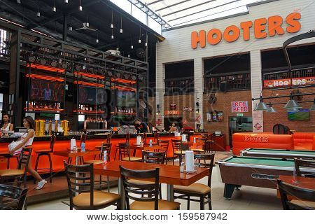 View Of Internal Hooters Restaurant In Pattaya