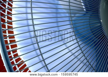 part of the grille outdoor fan revolving, rotate