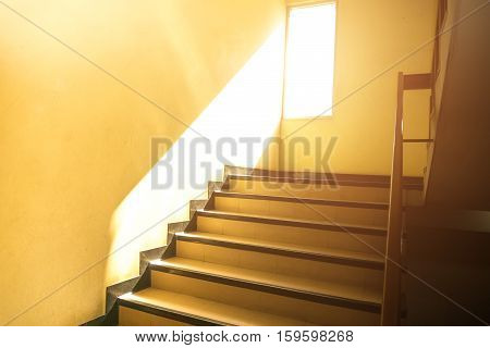 Fire Exit Stairs In Office