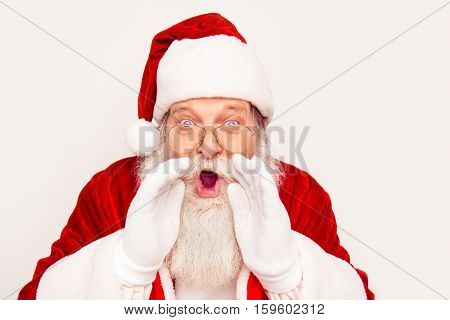 Happy New Year! Santa Claus Greeting With Holidays