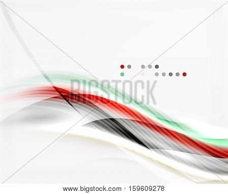 Modern hi-tech glossy glass wave, vector background
