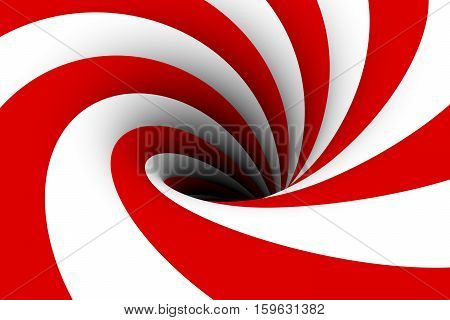 black hole multicolored background red 3d illustration