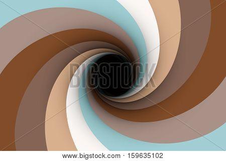 black hole in the beige color 3D illustration