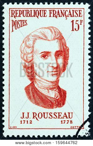 FRANCE - CIRCA 1956: A stamp printed in France from the