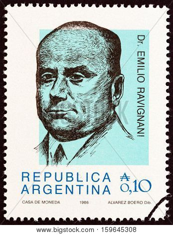 ARGENTINA - CIRCA 1986: A stamp printed in Argentina from the