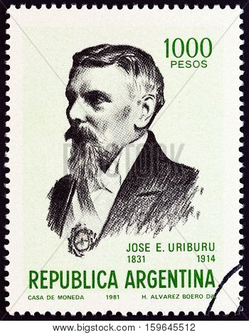 ARGENTINA - CIRCA 1981: A stamp printed in Argentina from the