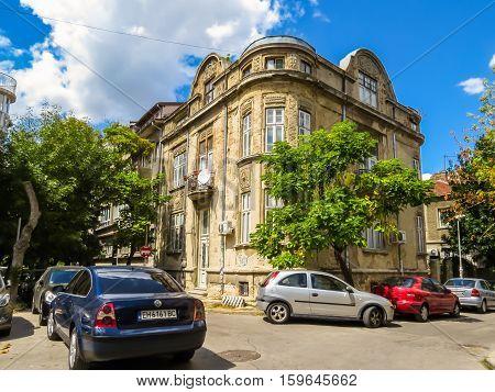 VARNA, BULGARIA - AUGUST 26, 2016: Street in the Old town Varna, Bulgaria