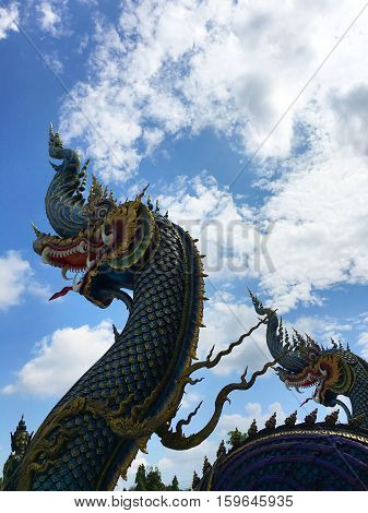 The serpent state with temple at overlooking the sky.