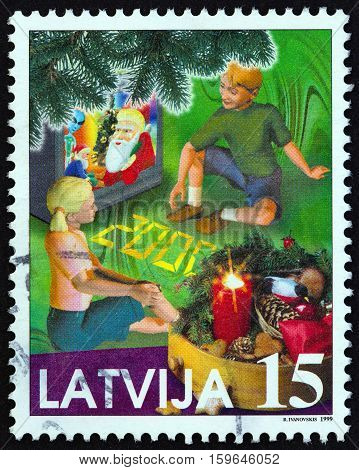 LATVIA - CIRCA 1999: A stamp printed in Latvia from the