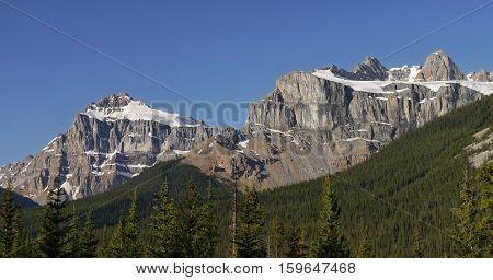 Mountain in the Canadian Rockies, Alberta, Canada