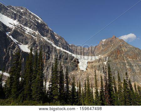 Mount Edith Cavell. 3 363 m. Canadian Rockies, South Jasper Ranges
