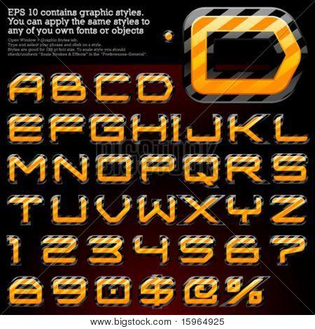 Gefahr Streifen Zeichen. Datei enthält Grafikstile in Illustrator 10 verfügbar + Sie können LD