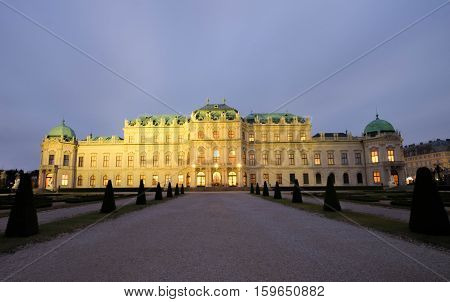 The Upper Belvedere palace  in Vienna, Austria