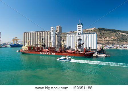 Various Marine Vessels In Port