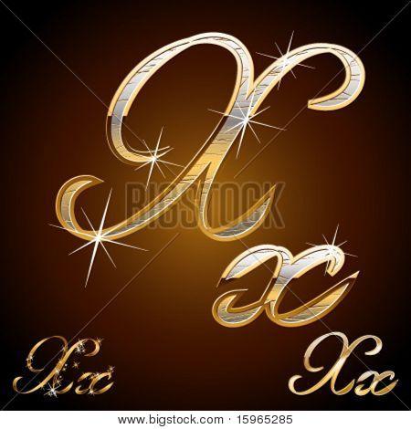 Original luxury typeface. Character x