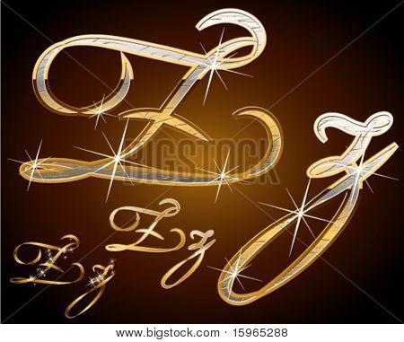Original luxury typeface. Character z