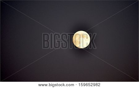 looking at the moon in the night sky
