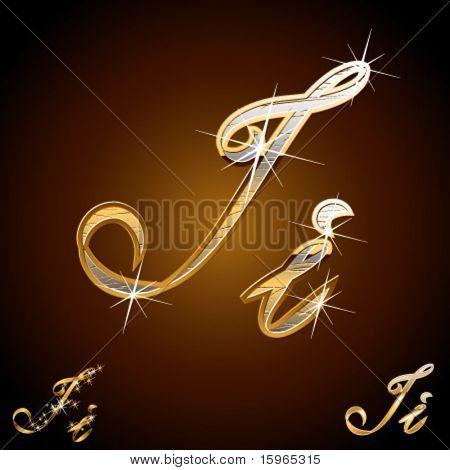 Original luxury typeface. Character i