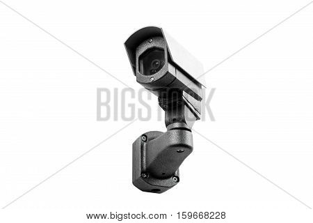 Cctv Camera On The White Background