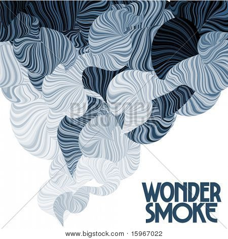 Wonder smoke. Curving lines.