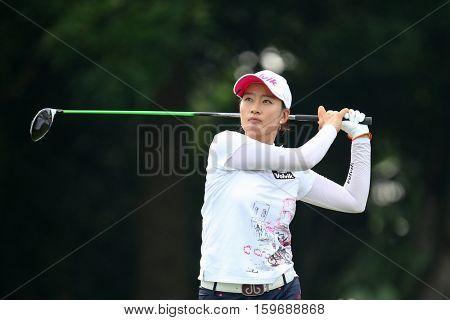 KUALA LUMPUR, MALAYSIA - OCTOBER 29, 2016: Chella Choi of South Korea tees off at the TPC Golf Course at the 2016 Sime Darby LPGA Malaysia golf tournament.