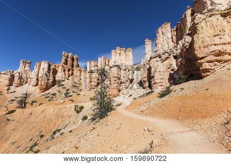 Hoodoo trail at Bryce Canyon National Park in Southern Utah.