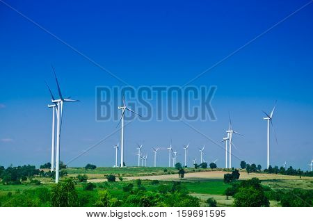 raw power energy.Wind turbines to produce electricity the power of choice Raw energy. clean energy