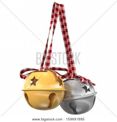 Jingle bells. 3d illustration  isolated on white background