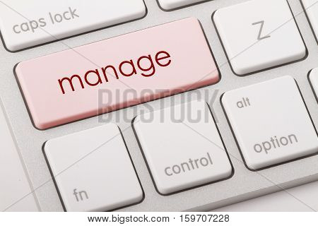 Manage word written on computer keyboard .