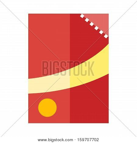 Vector illustration canned goods with white-red label. Tin can. Aluminum Can. Retail store element. Bank canning object. Bank food sign. Simple drawing. Isolated vector illustration on white background.