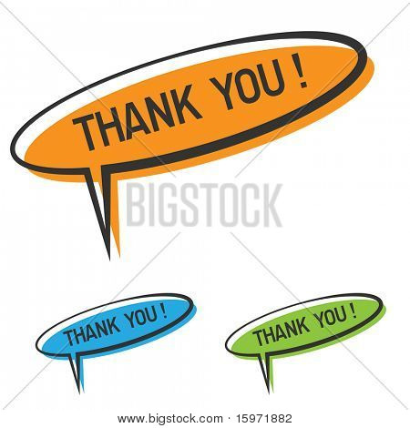 "vector ""thank you"" speech bubble"