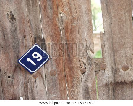 House Number,Nineteen On A Wall