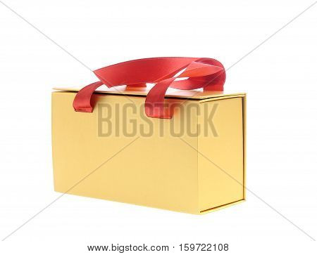Nice present box isolated on white background