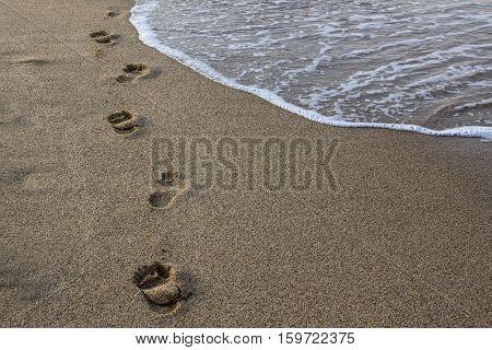 Sand beach / Sand beach background, lomo style.