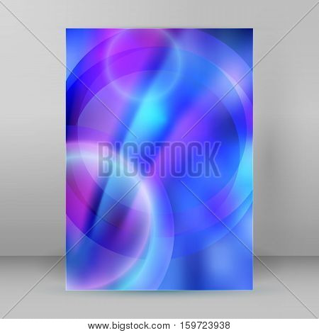 Abstract dream background of bright glow perspective with lighting blue circle lines. Can be used for business brochure flyer party design banners cover book label