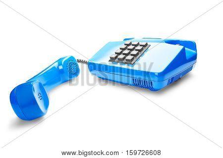 landline phone on a isolated white background