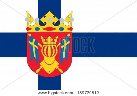 Flag Of Southwest Finland also known in English as Finland Proper region in Finland