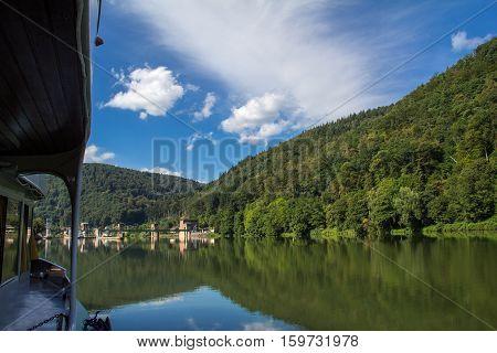 Rhein (Germany) / Beautiful river landscape .