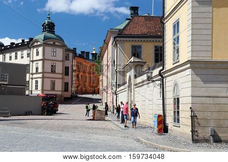 STOCKHOLM, SWEDEN - JUNE 27, 2016: This is building of City Count on the island Riddarholmen.