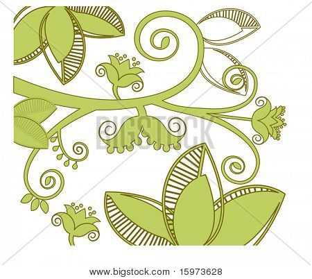 fun fresh and  stylized foliage vector