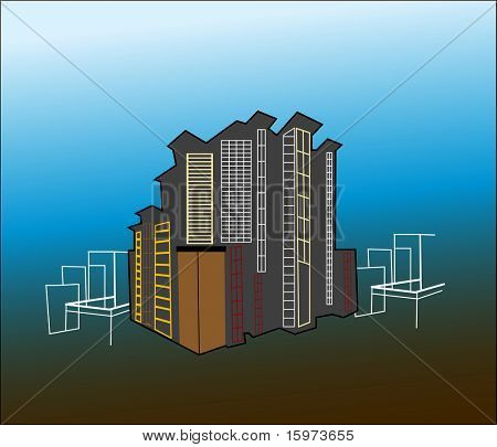 urban building concept vector see series