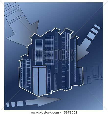 urban building concept vector
