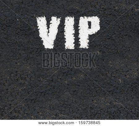 White Road Markings With VIP For Very Important Person With Copy Space